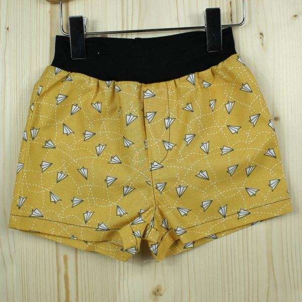 Short avions moutarde