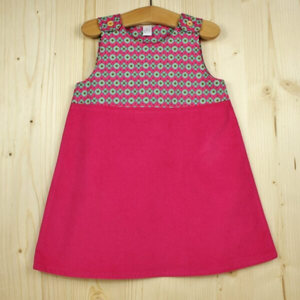 Robe velours formes rose